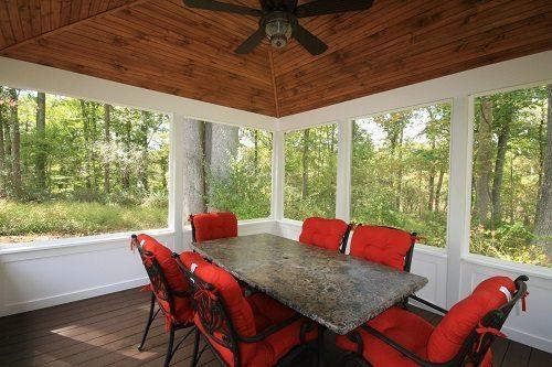 Local Howard County Deck Builders build deck/ screen room Gazebo in Ellicott City, MD