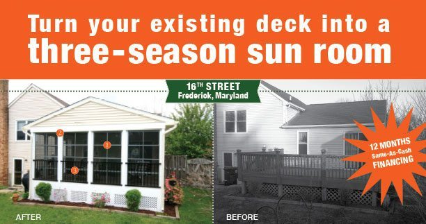 Turn your existing deck into a three-season sun room
