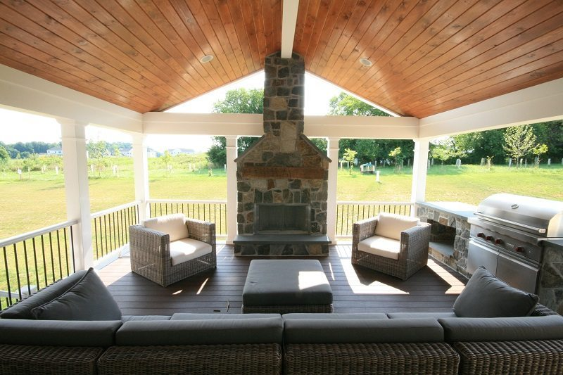 Sunroom and porch builder in Howard County Builds new covered porch