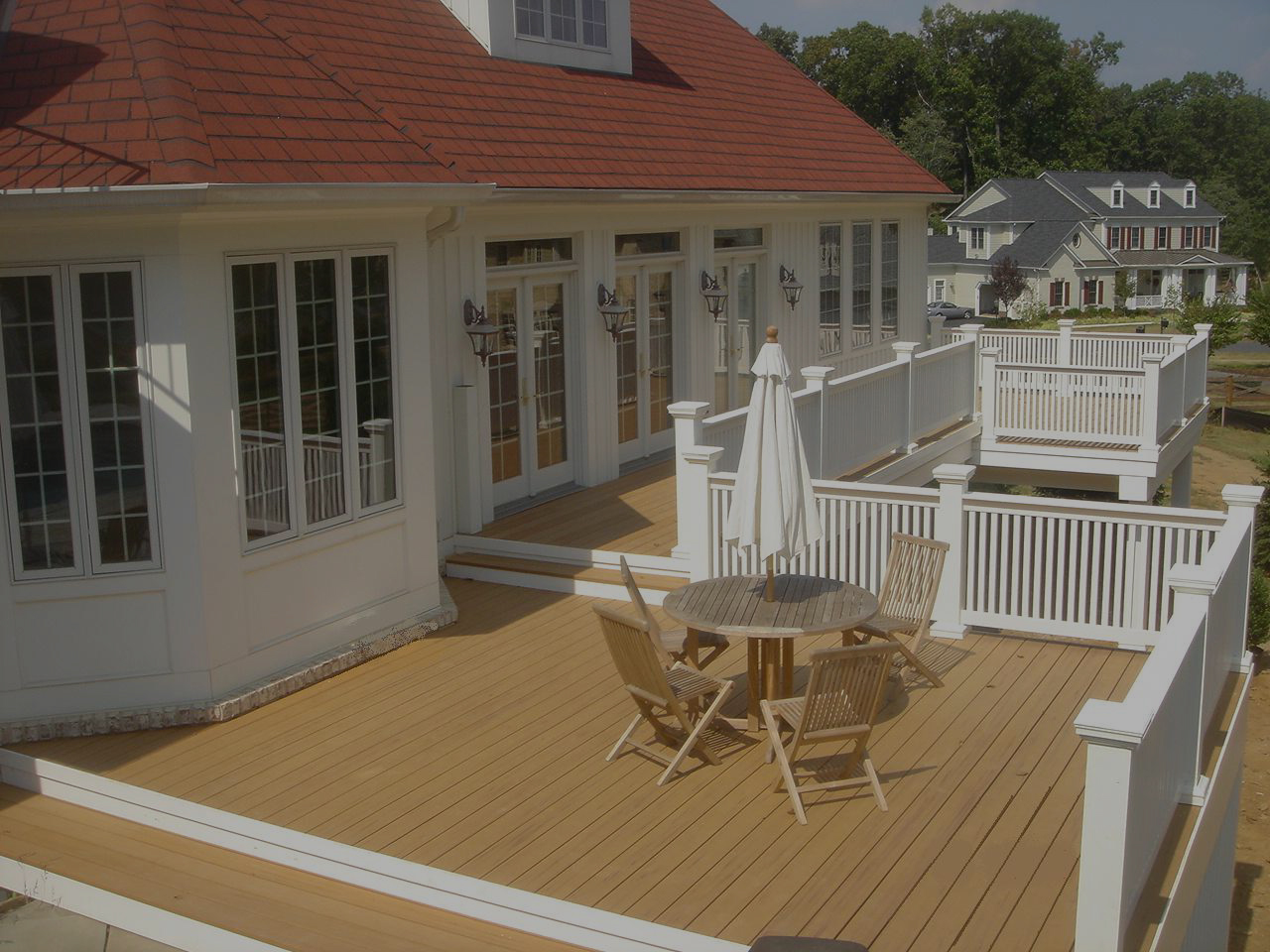 Maryland Deck Contractor Wide Handrail