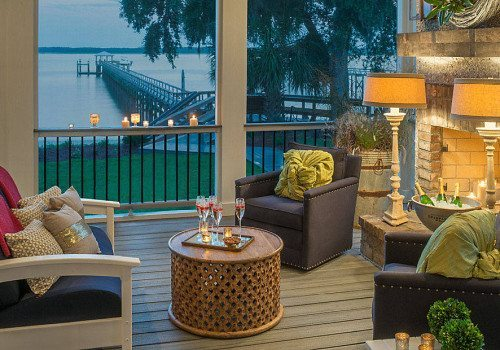 Maryland Screen Porch Design Ideas Fireplace