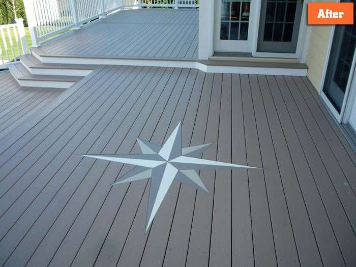 Deck with decorative star inlay Maryland