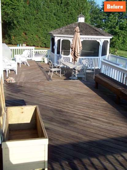 Deck with Gazebo Repair Maryland
