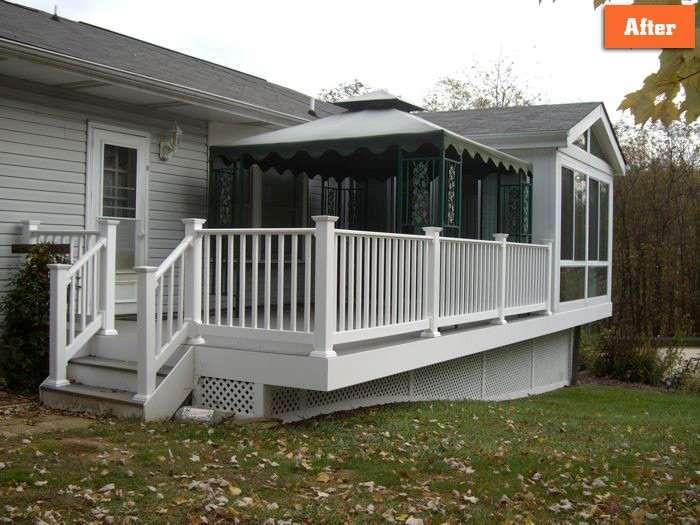 Replacing Deck rails trim Maryland