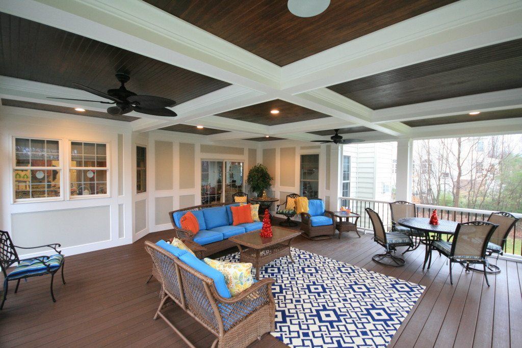 Maryland Porch Coffered Ceiling
