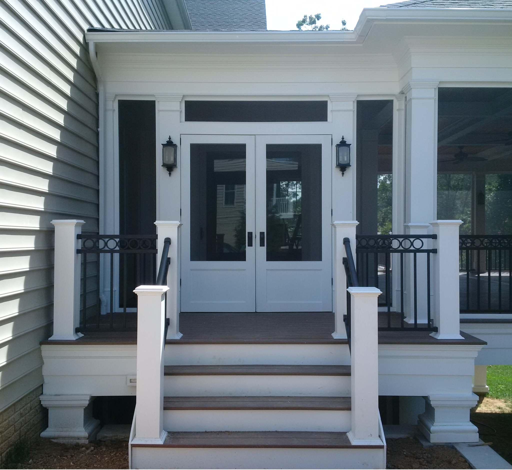 Maryland Porch Design Double Doors