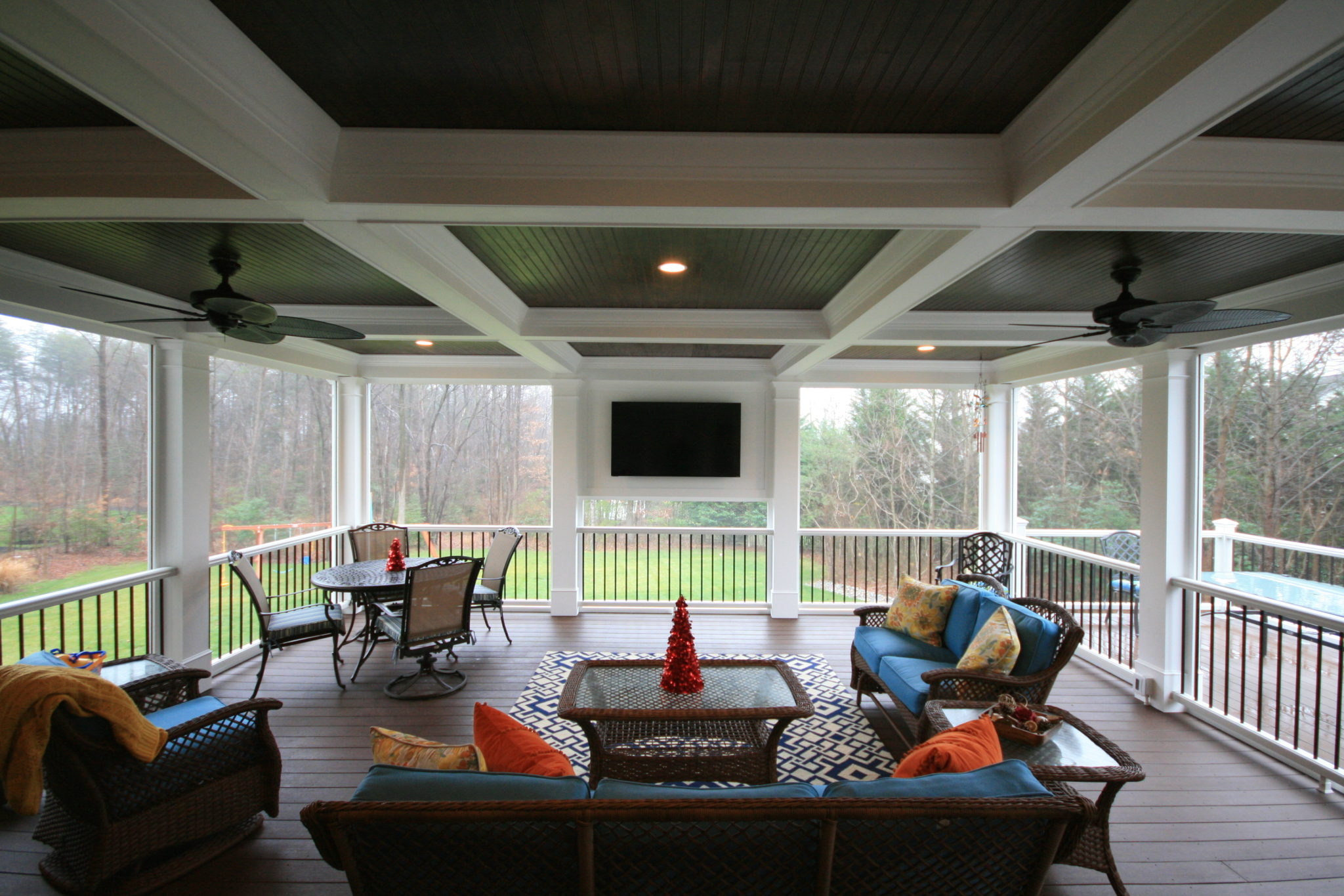 Superieur Maryland Screen Porch Coffered Ceiling
