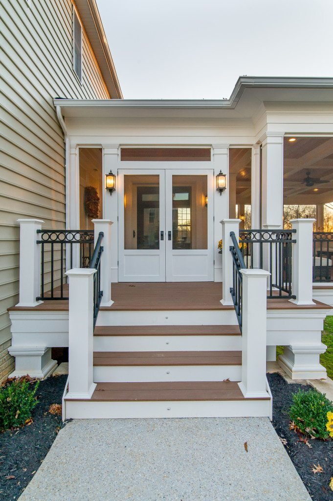 Maryland Screen Porch Double Doors