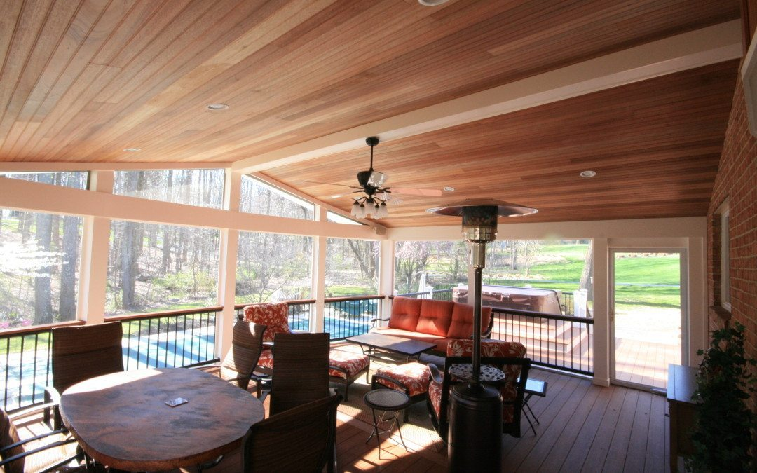 Ellicott City, MD Screen Porch builders build custom screened room