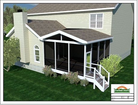 how to add roof on existing deck